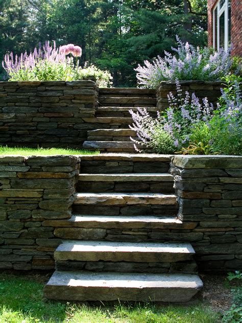 steps retaining wall home design ideas pictures remodel and decor