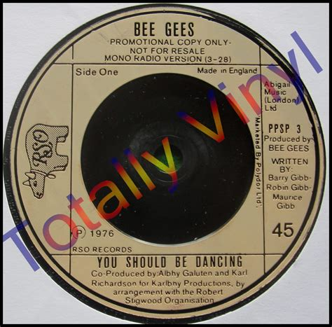 The Other Uk Version Bee Us Version totally vinyl records bee gees you should be
