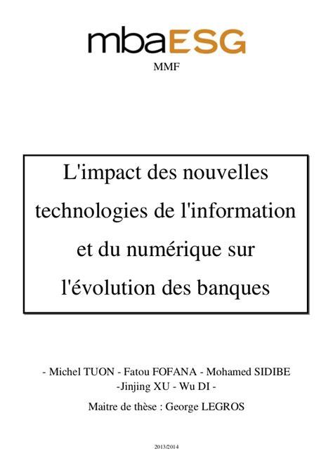Mba Information Systems Interamericana De by L Impact Des Nouvelles Technologies De L Information Et Du