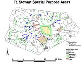 map of fort stewart locations of areas and rcw groups on fort stewart