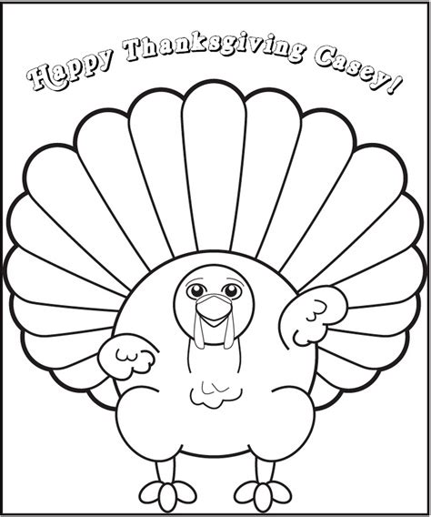 baby turkey coloring page personalized thanksgiving turkey coloring page frecklebox