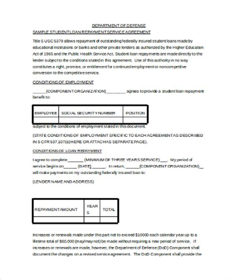 sle loan contract form 9 free documents in pdf