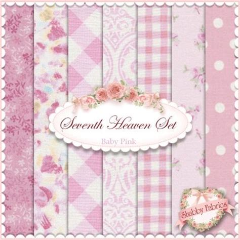 Seventh Heaven Nursery Collection by Seventh Heaven 7 Fq Set Baby Pink Metervare Stof