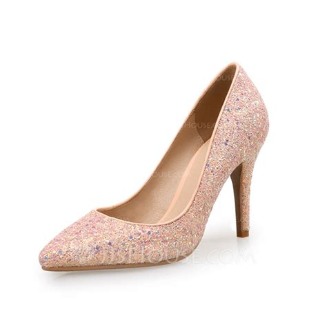 sparkling shoes for s sparkling glitter stiletto heel pumps with