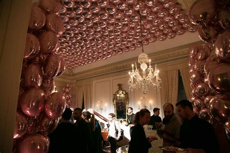 Balloon Falling From Ceiling by In The Room Hundreds Of Mylar Balloons Were Strung