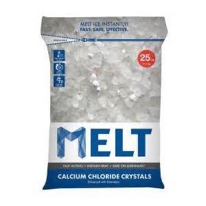 snow joe 25 lb re sealable bag calcium chloride crystals