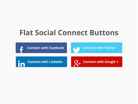 how to connect google plus to twitter and facebook youtube flat social connect buttons free download by salvatore