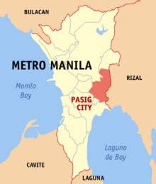 san jose pasig map map of metro manila showing the location of the city of pasig