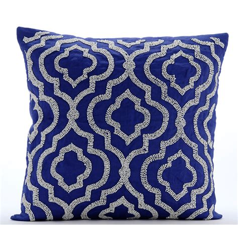 Handmade Throw Pillows - handmade blue throw pillow covers 16x16 cotton