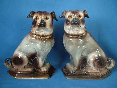 pugs for sale in staffordshire pair staffordshire seated pugs with glass for sale antiques classifieds