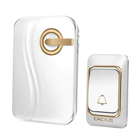 Battery Operated Wireless Doorbell - cacazi wireless doorbell battery operated waterproof with