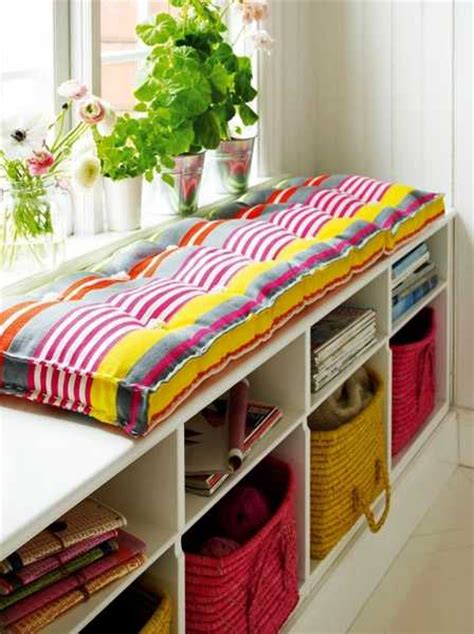 colorful storage bench 30 window seat decor ideas adding functional appeal to
