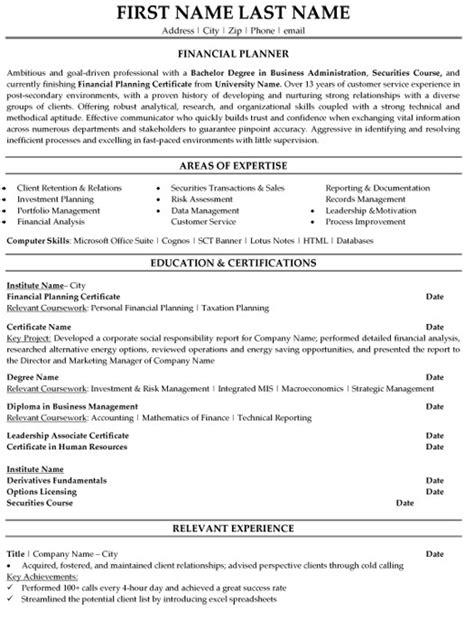 finance resume advice