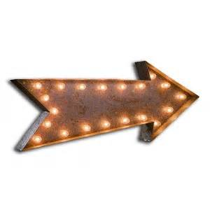everyday vintage marquee arrow light polyvore