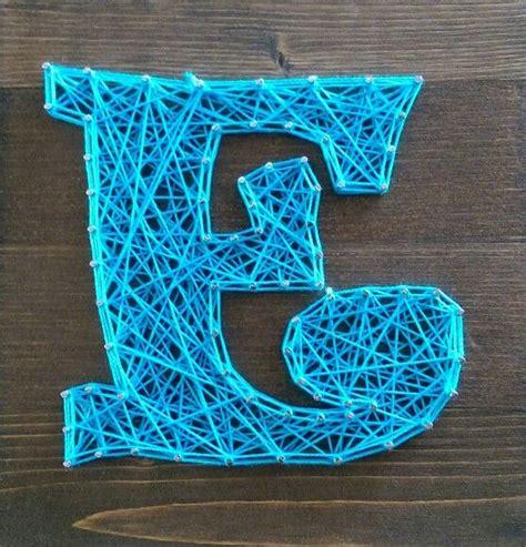String Letter - string letter e crafts string