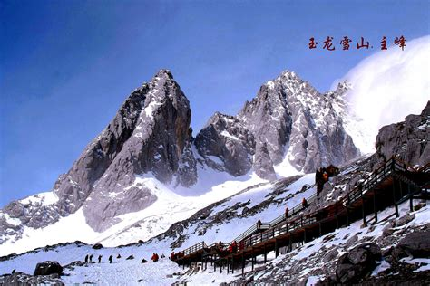 Winter Houses by Photos Of Jade Dragon Snow Mountain