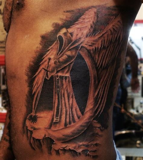 3d dark angel tattoos on sleeve tattoo design ideas
