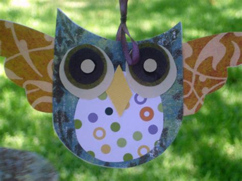 Paper Craft Owl - math shape paper crafting ideas for owls