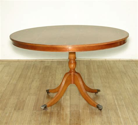 vintage yew wood regency dining pedestal table w