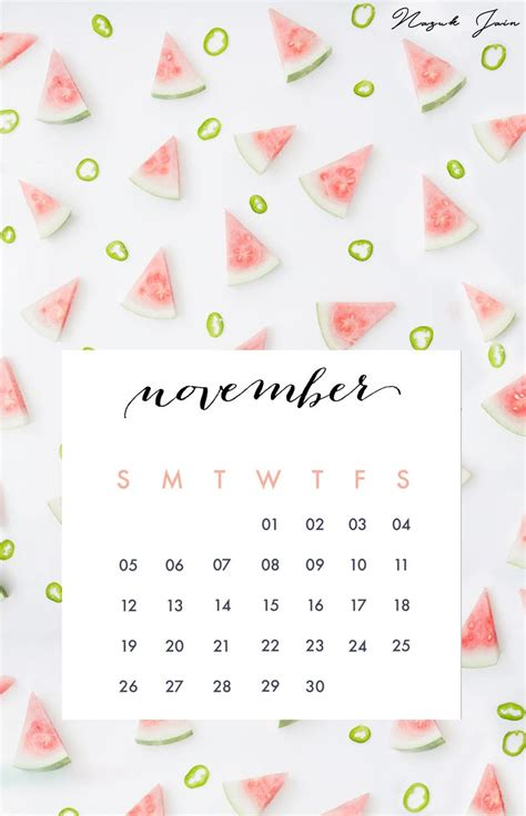 Calendar November 2017 Wallpaper Best 25 November Calendar Ideas On November