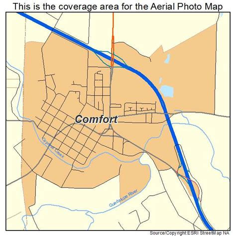 comfort tx map aerial photography map of comfort tx texas