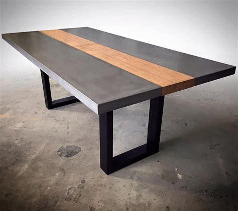 polished concrete table top polished concrete table top with steel base by mitchell