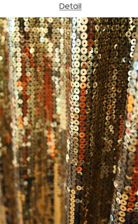 handmade decorative curtains gold sequins drop curtain decorative metallic drapery