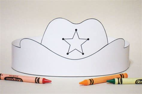 paper cowboy hat template cowboy hat paper crown color your own printable