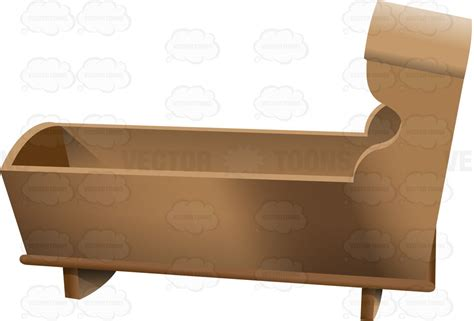wooden baby crib a basic wooden baby crib clipart