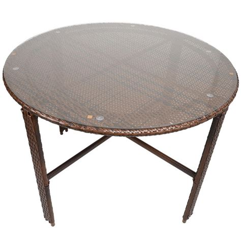 Wicker Dining Table With Glass Top Napoli Rattan Wicker Dining Garden Furniture Set With Glass Top Table 4 Chairs