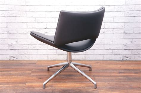 boss design jolly chair  grey faux leather office resale