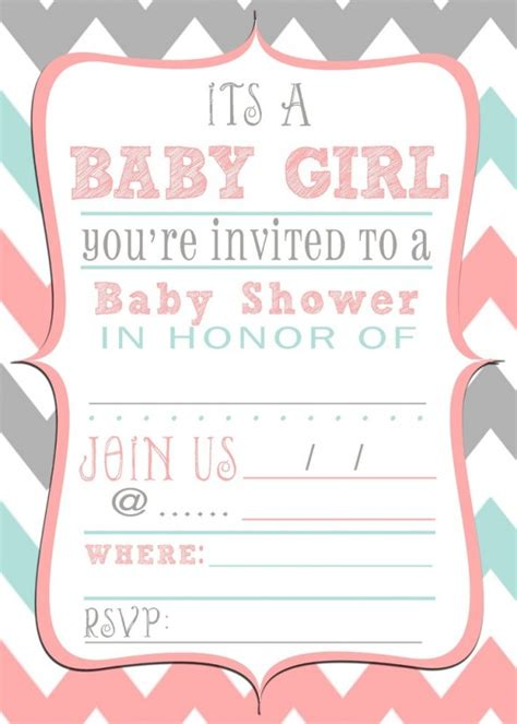 free baby shower borders templates baby shower invitations free printable baby shower