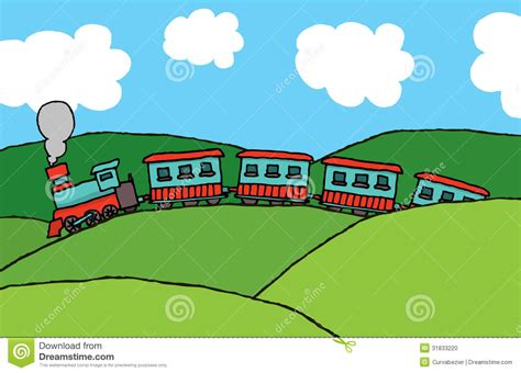 Passenger Train In The Country Stock Photo   Image: 31833220