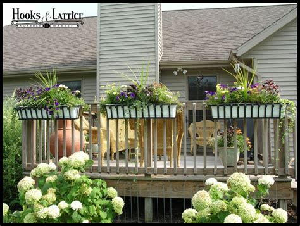 the rail window boxes 2 quot x 6 quot deck rail brackets use w cages decora window