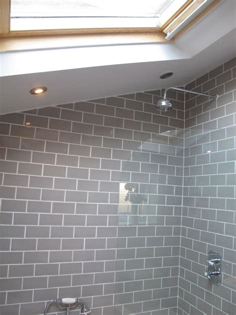 bathroom with subway tiles bathroom grey subway tiles bathrooms pinterest