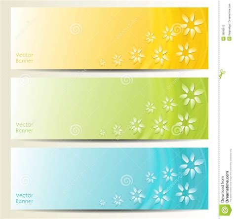 Abstract Flower Vector Background Brochure Template Banner Stock Photography Image 38096612 Flower Banner Template