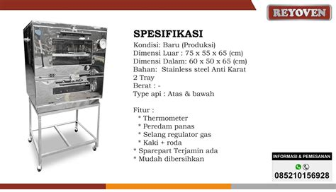 oven gas stainless p 75 oven gas no 1 di indonesia