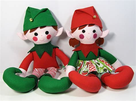 pattern for a christmas elf elf christmas twins doll instant download sewing pattern pdf