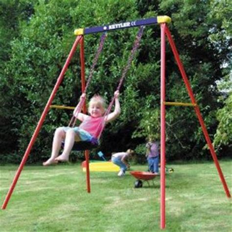 swing for the kids kettler single swing fade and rust resistant swing set