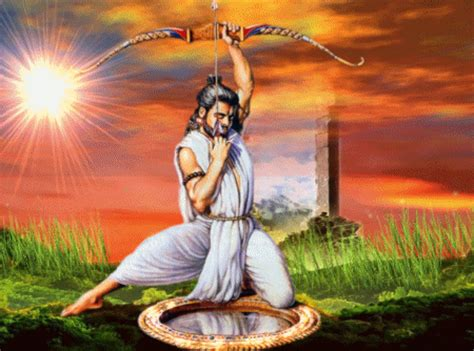 yudhisthira biography in hindi arjuna the fish s eye story this story comes from the