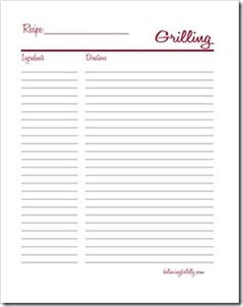 bbq recipe card template meal planning binder recipe pages recipe binders posts