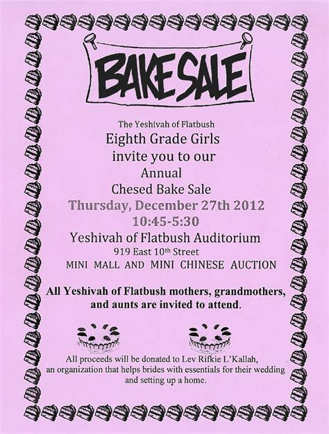 free bake sale flyer templates bake sale flyer exle bake sale bake