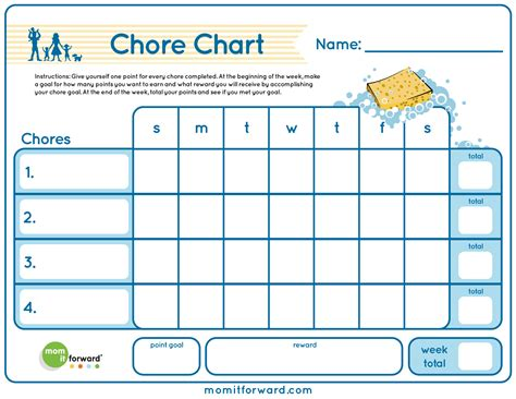 house chart template chore chart printable it forwardmom it forward