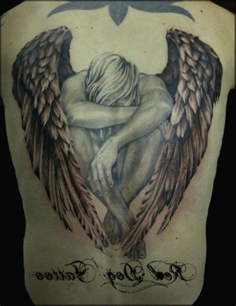 male angel tattoo designs best tattoos designs