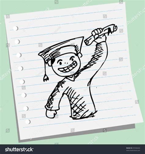 doodle graduation happy graduate doodle illustration 95506420