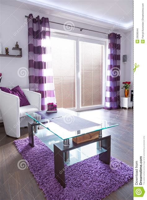 purple and white room modern white and purple living room interior stock images