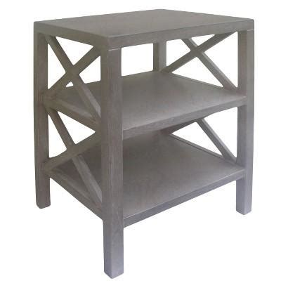 grey accent table drum lattice cutouts gray accent table