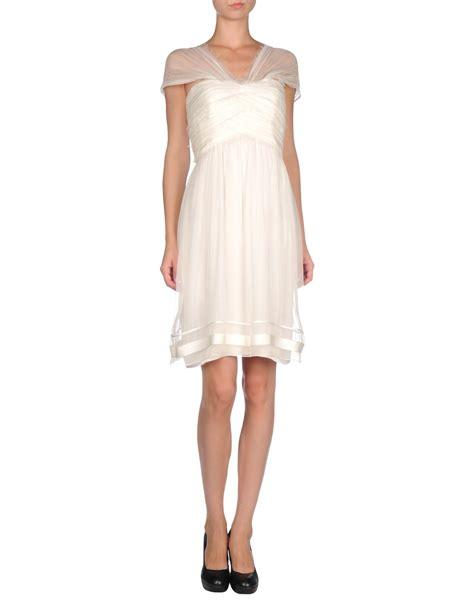 Jumpsuit Mini Import Chiffon Inner Silk White Flower Murah Lyst Alberta Ferretti Dress In White