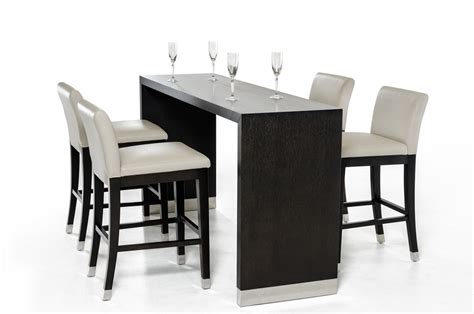 Dining Room Bar Table Modrest Silas Modern Wenge Wood Bar Table Bar Units