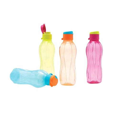 Tutup Botol Tupperware jual tupperware eco bottle flip botol minum 500 ml 4 pcs